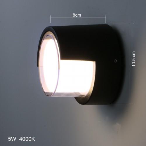 Outdoor IP65 Black Wall Lamp Eyelid Bulkhead Aluminum Sconce Ceiling Light LED