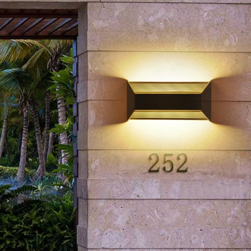8W LED COB Waterproof IP65 Sconce Acrylic Wall Lamp UP Down Garden Outdoor Light