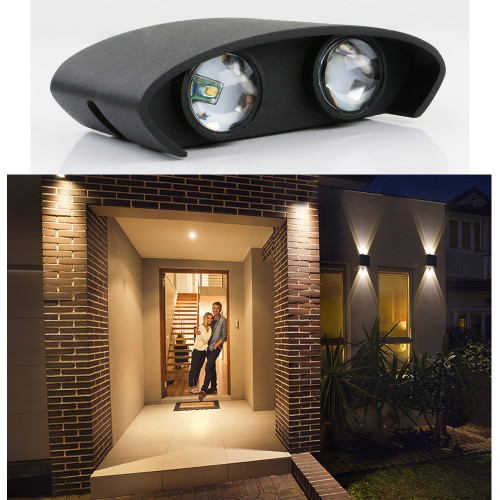 4/6/8 LED COB Lights Outdoor IP65 Wall Sconce Acrylic UP Down Garden Wall Lamp