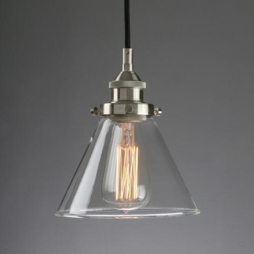 Leonlite 3 Pack Industrial Pendant Lighting For Kitchen: Retro Industrial Lamp Silver Brushed Ceiling Pendant Light