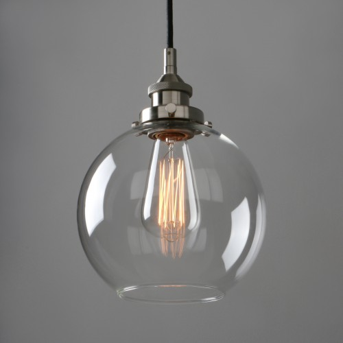 Retro Industrial Lamp Silver Brushed Ceiling Pendant Light