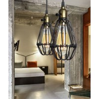 Brown Black Industrial Vintage Kitchen Ceiling Pendant Light