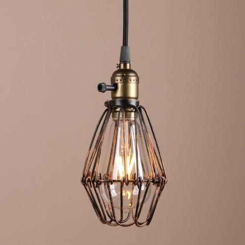 Brown black industrial vintage kitchen ceiling pendant light aloadofball Image collections