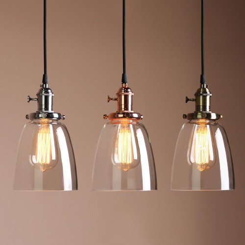 nordic pendant lamp lustre item clear ball suspension fixture globe kitchen light lights glass chrome