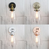 Industrial Vintage Clear Glass Shade Bell Sconce Wall Light
