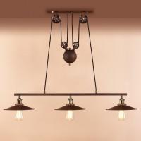 Edison Vintage Industrial Adjustable Pendant Chandelier Light Retractable Lamp