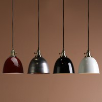 Retro Industrial Varnish Iron Shade Pendant Light