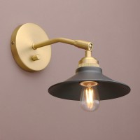 Vintage Industrial Style Metal Iron Brass Dimmer Adjustable Wall Sconce