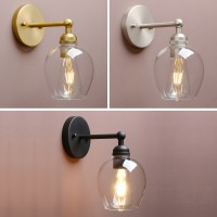 Retro Industrial Style Clear Wine Glass Wall Lamp Antique Edison Sconce Light