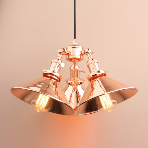 3 head retro industrial copper hanging lamp iron ceiling pendant light pathson 3 head retro industrial copper hanging lamp iron ceiling pendant light mozeypictures Gallery