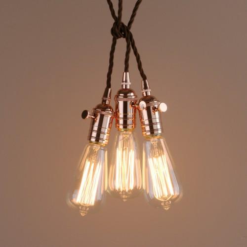 Vintage Cer 3 Lights Ing Pendant Light Metal