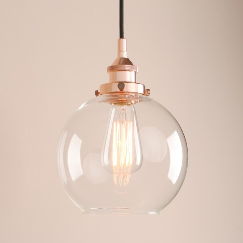 Retro Vintage Clear Glass Antique Loft Pendant Light