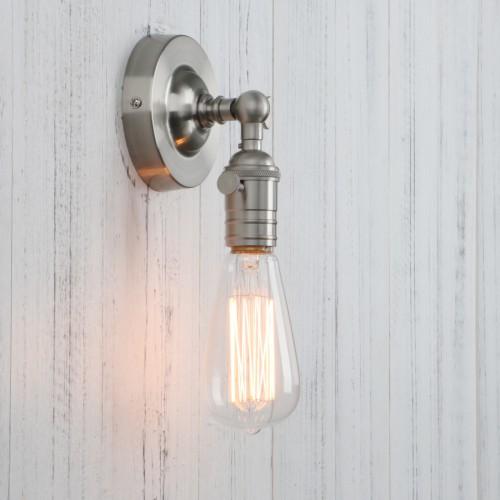 Vintage Metal Corridor Bare Bulb Wall Light