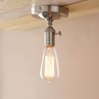 Edison Retro Industrial Loft Lampholder Brushed Flushmount Pendant Light