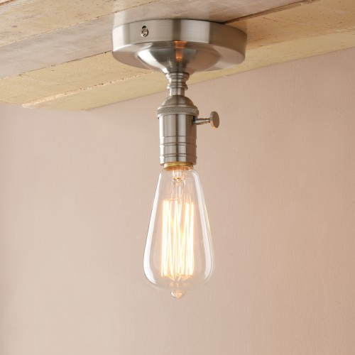 Edison Retro Industrial Loft Lampholder Copper Flushmount Pendant Light