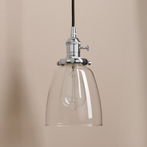 Elegant Modern Chandelier Clear Glass Pendant Light