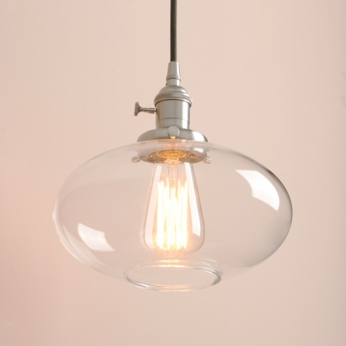 French Style Glass Shade Retro Lamp Fitting Ceiling Light