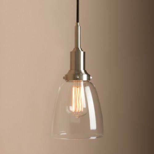 Pathson Vintage Industrial Glass Lamp Brushed Ceiling Pendant Light Big Deal!