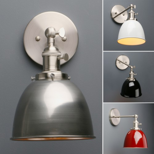 Retro Industrial Style Sconce Iron Lampshade Rustic Wall Light Brushed Wall Lamp