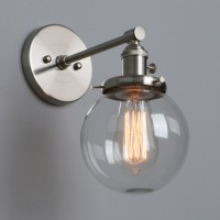 Edison Industrial Globe Clear Glass Up Down Wall Sconce Lighting