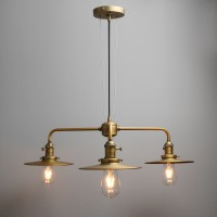 Cluster 3 Way Ceiling Pendant Light Vintage Industrial Bar Metal Copper Lamp Fixture
