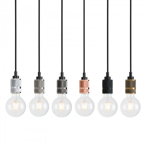 E27 Edison Bare Holder Hanging Lamp Retro Loft Ceiling Pendant Light