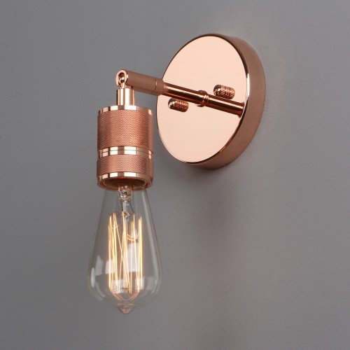 RETRO INDUSTRIAL LAMPHOLDER SCONCE ANTIQUE WALL LIGHT EDISON BARE BULB FIXTURE