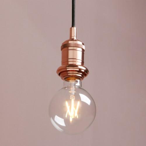 E27 Edison Industrial Bare Fitting Hanging Lamp Retro Loft Ceiling Pendant Light