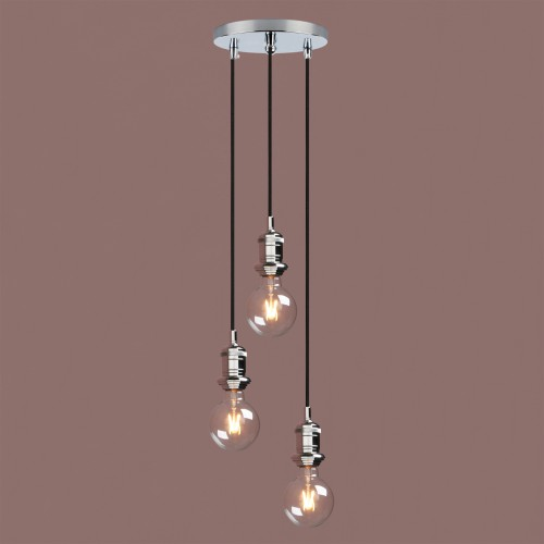 Industrial Vintage Cluster 3 Lights Fitting Pendant Light Bathroom Metal Lamp