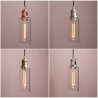 Retro Industrial Ceiling Pendant Light Loft Bar Bottle Glass Lamp Shade Bathroom