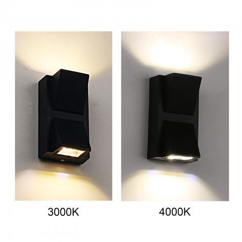 Outdoor Wall Sconce Waterproof Porch Lighting 3000K Warm White Up Down LED Wall Light