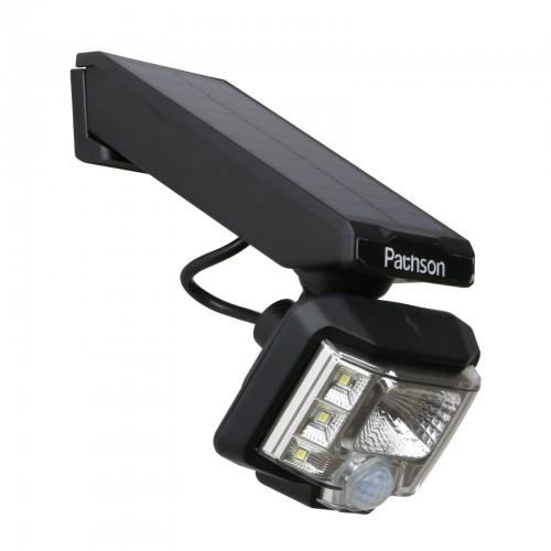 Pathson Outdoor Solar Lights Waterproof  Motion Sensor Detection 7 LEDs  for Gate Post Porch Aisle Garden