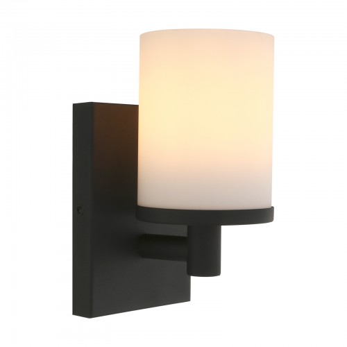 Pathson Vintage 1 Light Wall Light, Industrial Bathroom Vanity Light, Indoor Wall Sconce with Frosted Glass