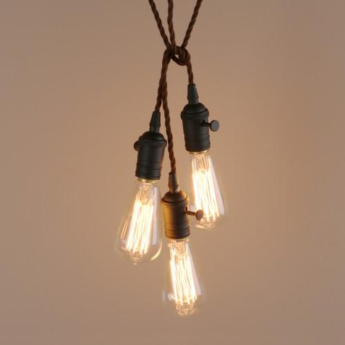 Mini Pendant With 3 Lights Adjule Vintage Simple Home Ceiling Light Fixture