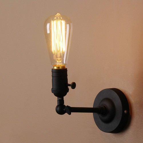 Loft Vintage Wall Sconces with 1-Light Wall Light 180 Degree Rotated Design