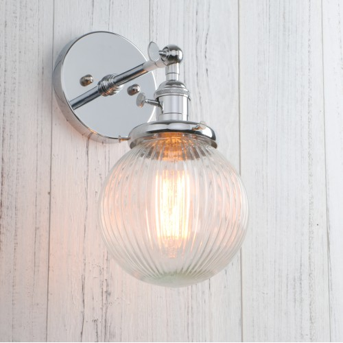Indoor Lighting  Industrial Edison Wall Sconce with Clear Glass and E26 Base