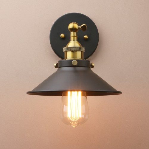 Vintage Industrial Style Metal Iron Finish Wall Sconce