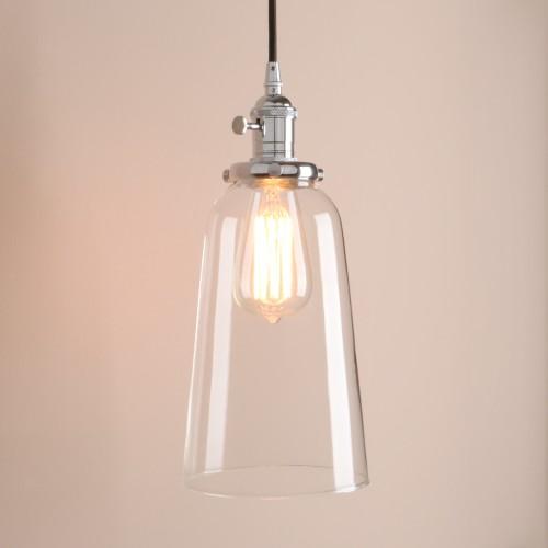 Indoor Pendant Light Kitchen Island Lighting with Glass Shade