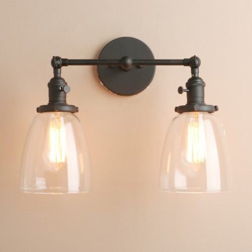 Vintage Style 2 Light Wall Sconce Fixtures
