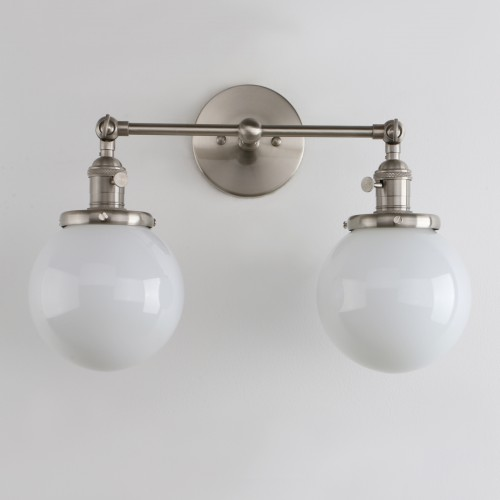 Industrial Wall Sconce 2-Light Bathroom Vanity Lights With