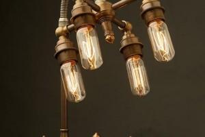 A modern industrial water lamp