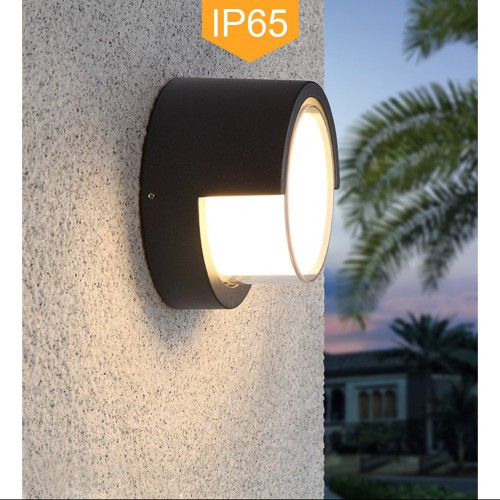 Black Outdoor IP65 Wall Lamp Eyelid Bulkhead Aluminum Sconce Ceiling Light LED