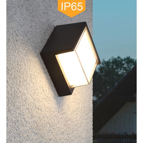 Indoor/Outdoor IP65 LED Wall Lamp Diamond Bulkhead Rainsafe Sconce Ceiling Light