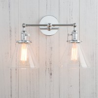 Vintage Industrial Double Arm Loft Wall Lamp Funnel Light Sconce