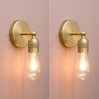 Pair Vintage Industrial Wall Sconce Lights Antique Bare Holder Fitting Wall Lamp
