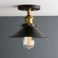 Retro Edison Industrial Flushmount Lighting Metal Lamp