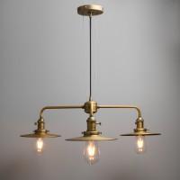 Cluster 3 Way Ceiling Pendant Light Vintage Industrial Bar Metal Copper Lamp Fixture