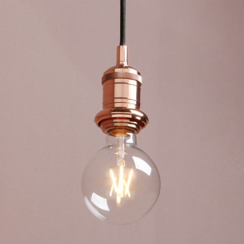 E27 Edison Industrial Bare Fitting Hanging Lamp Retro Loft Ceiling Pendant Light