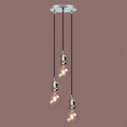 Industrial Vintage Cluster 3 Lights Fitting Pendant Light Bathroom Metal Lamp