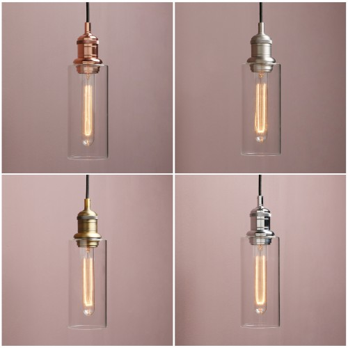Retro Industrial Ceiling Pendant Light Loft Bar Bottle Glass Lamp Shade Bathroom